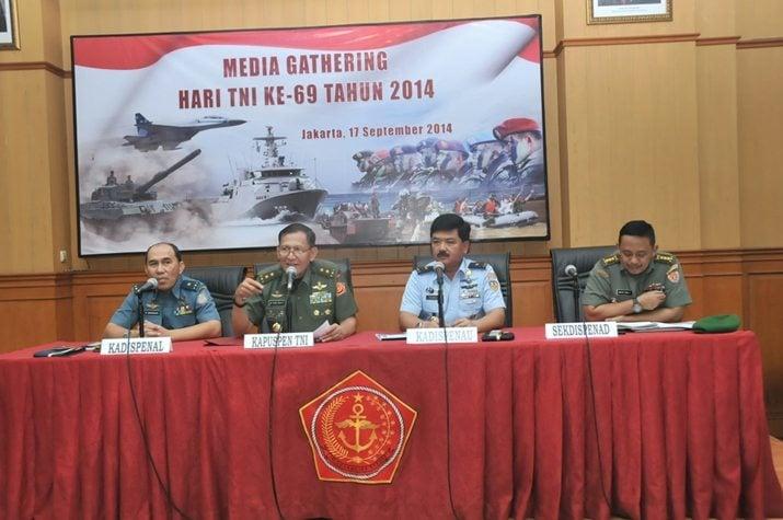 Puspen TNI Gelar Media Gathering Peringatan ke-69 Hari TNI Tahun 2014