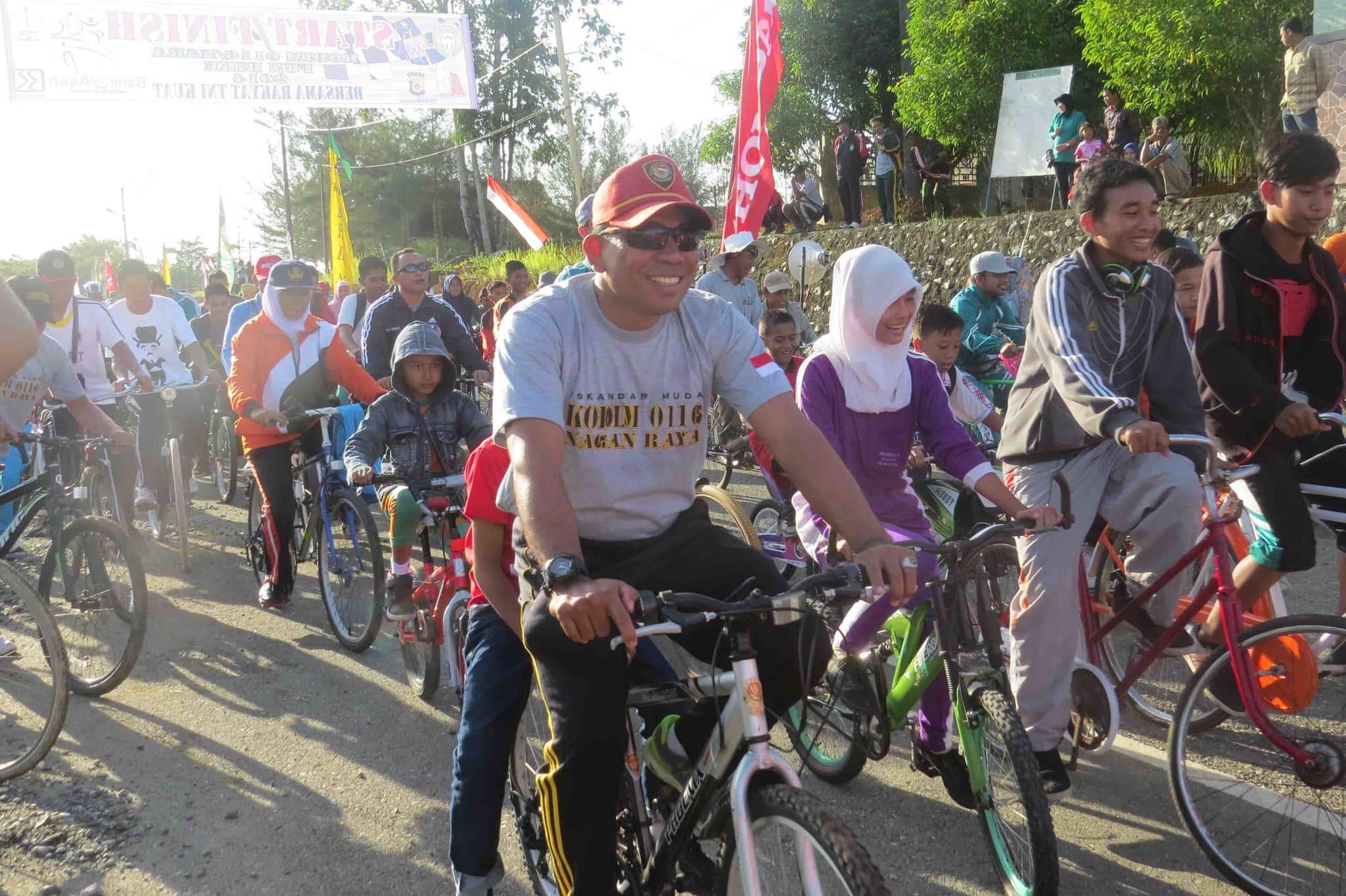 Kodim 0116/Nagan Raya Gelar Fun Bike HUT TNI Ke-69