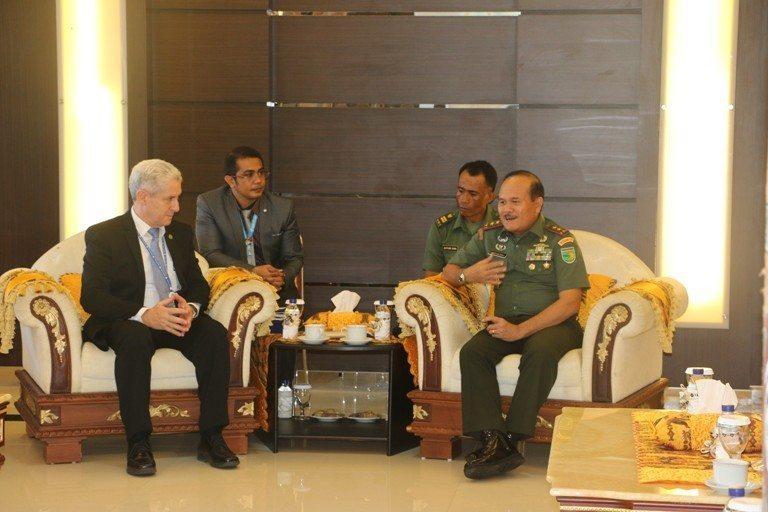 Pangdam XVII/Cenderawasih Audiensi Dengan Chief Security Adviser UNDSS