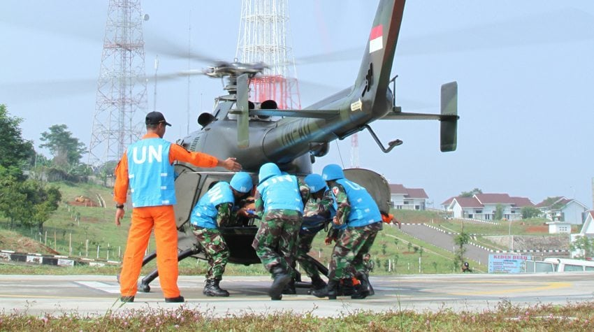 GPOI Garuda Canti Dharma Gelar Latihan Evakuasi Medis Udara