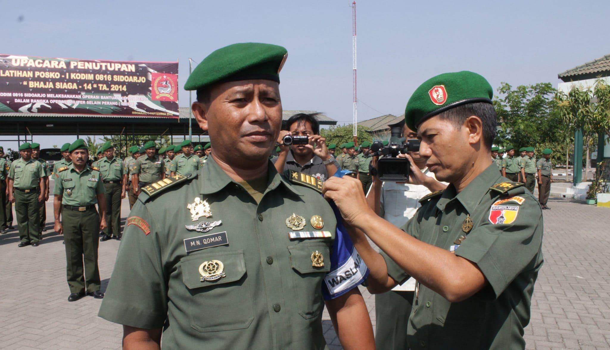 Kasrem 084 Bhaskara Jaya Letkol Inf Agung Dwi Kuncoro melepas tanda peserta latihan
