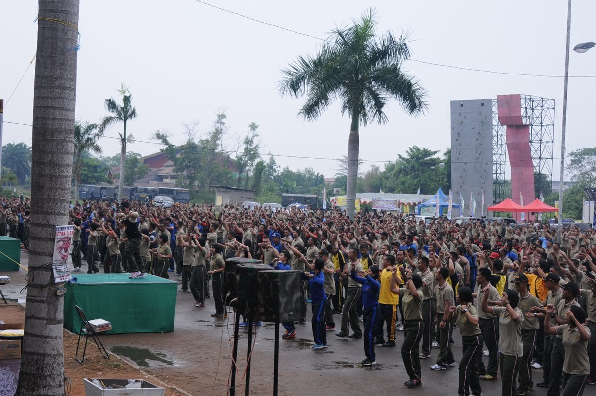 Rajut Kebersamaan, TNI-Polri Di Wilayah Kalbar Laksanakan Olahraga dan Senam Bersama