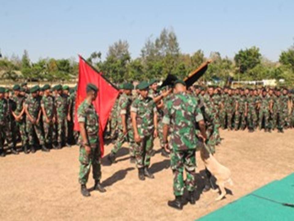 Dalam Rangka Pembinaan Satuan Batalyon Infanteri 744/Syb Melaksanakan Perlombaan Antar Kompi
