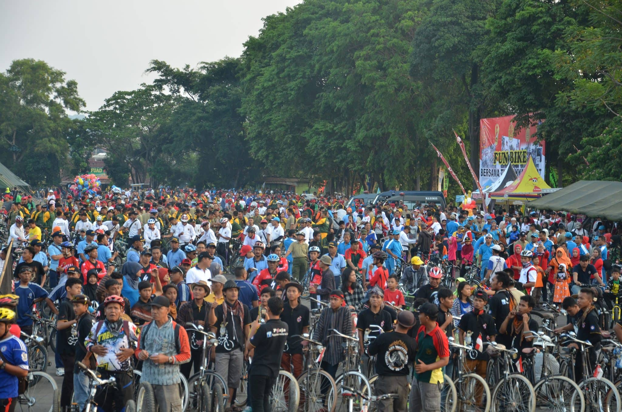 Dengan Fun Bike, TNI Mengajak Masyarakat Lampung Sehat