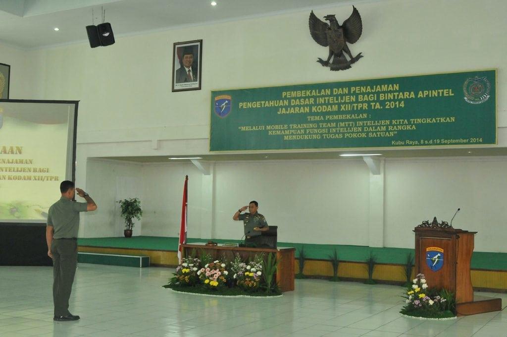 Pangdam XII/Tanjungpura Beri Pembekalan kepada Bintara Apintel