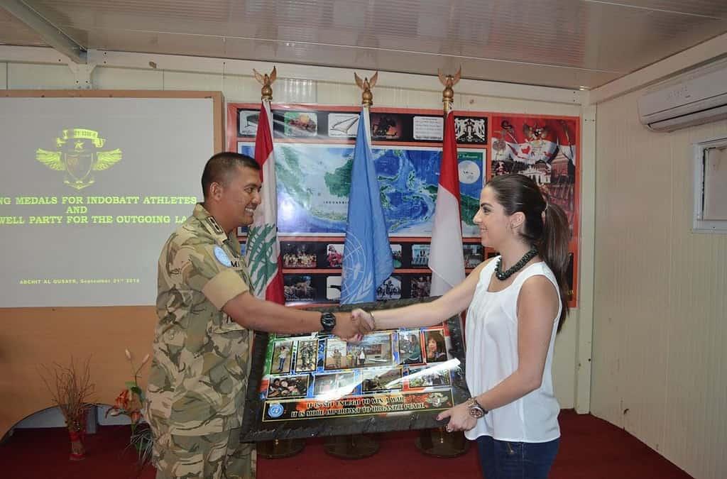 Satgas Indobatt XXIII-H/UNIFIL Adakan Makan Siang Perpisahan dengan Interpreter Bahasa Arab