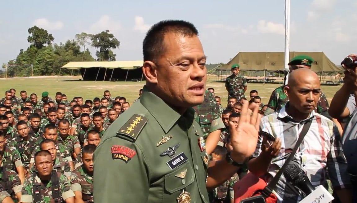 Pasca penembakan anggota TNI, Kepala Staf Angkatan darat memberikan motivasi kepada Prajurit YONIF 134/TS DI BATAM