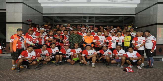 Tim Touring 69 TNI dan KSI Tiba di Jakarta