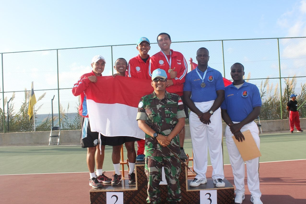 ATLET TENIS INDOBATT XXIII-H/UNIFIL SABET 3 EMAS, 2 PERAK Di UNIFIL TENNIS OPEN TOURNAMENT 2014