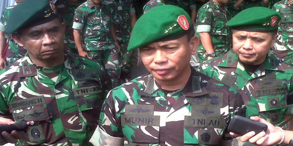 WAKASAD BUKA APEL DANSAT JAJARAN TNI AD DI YONIF 413 KOSTRAD PALUR