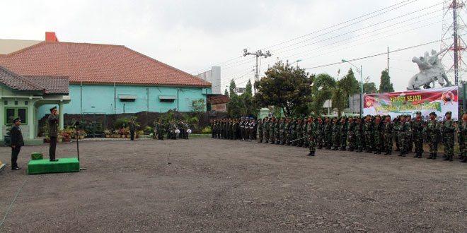 Kodim 0713/Brebes Memperingati HUT TNI dan HUT Kodam