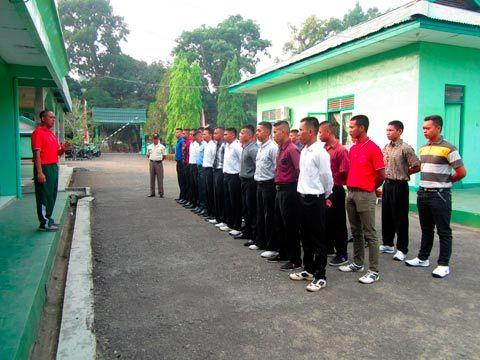 DANDIM 1002/BRB MELEPAS 33 ORANG CALON SELEKSI SECABA PK TNI-AD