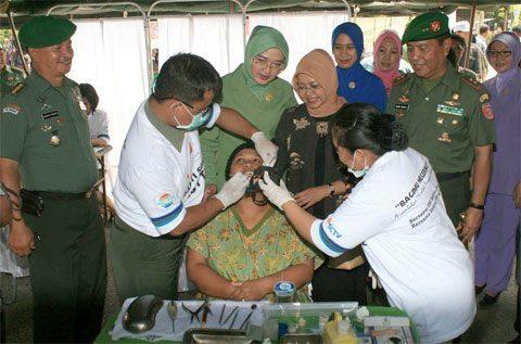 KESDAM VI/MLW MELAKSANAKAN BHAKSOS HUT KE 69 TNI