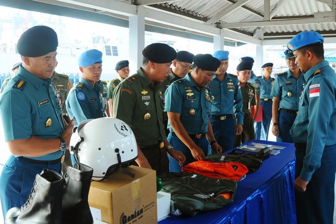 Gelar Kesiapan Satgas MTF TNI