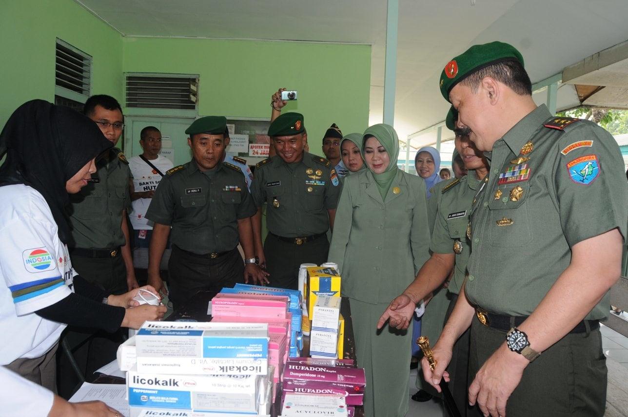 Bhaksos Kesehatan Kerjasama Dharma Pertiwi Daerah L, SIKIB, BKKBN, Indosiar, SCTV dan Cap Lang
