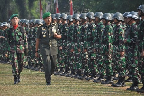 Pangdam Jaya Buka Pendidikan Pertama Bintara TNI AD Tahap l TA.2014