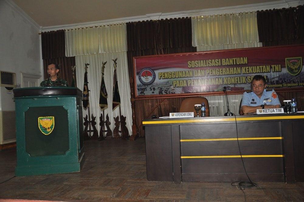 SOSIALISASI PERATURAN PERINTAH PENGGUNAAN DAN PENGERAHAN TNI PADA PENANGANAN KONFLIK SOSIAL