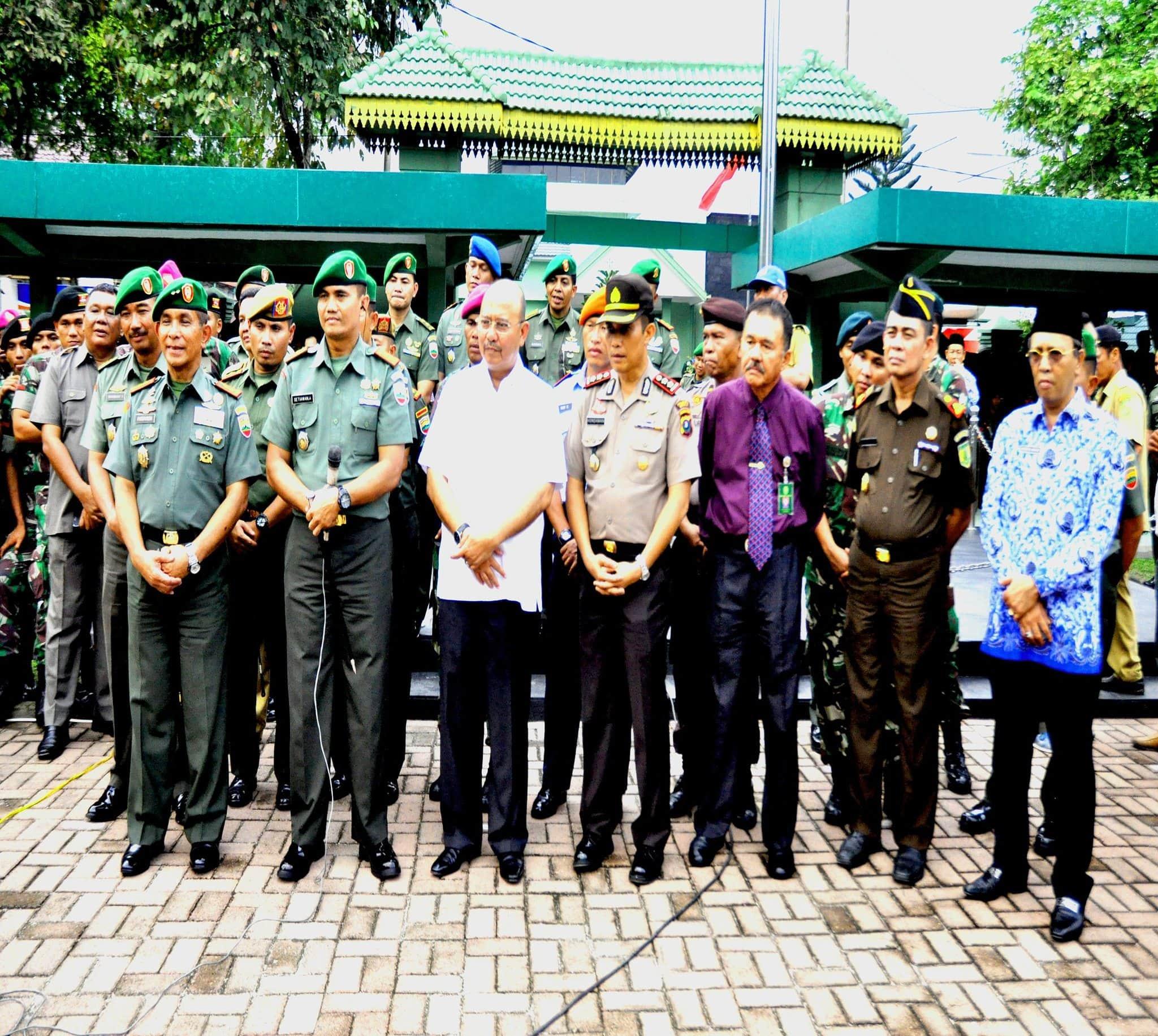 DANDIM 0201/BS TELECONFERENCE PANGLIMA TNI DALAM RANGKA MENYAMBUT HUT TNI