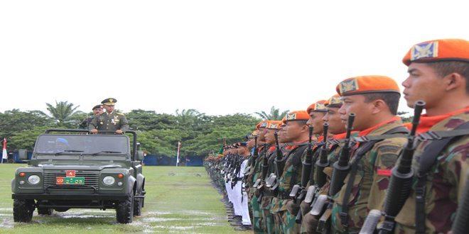 Kasdam IM Pimpin Upacara HUT ke-69 TNI