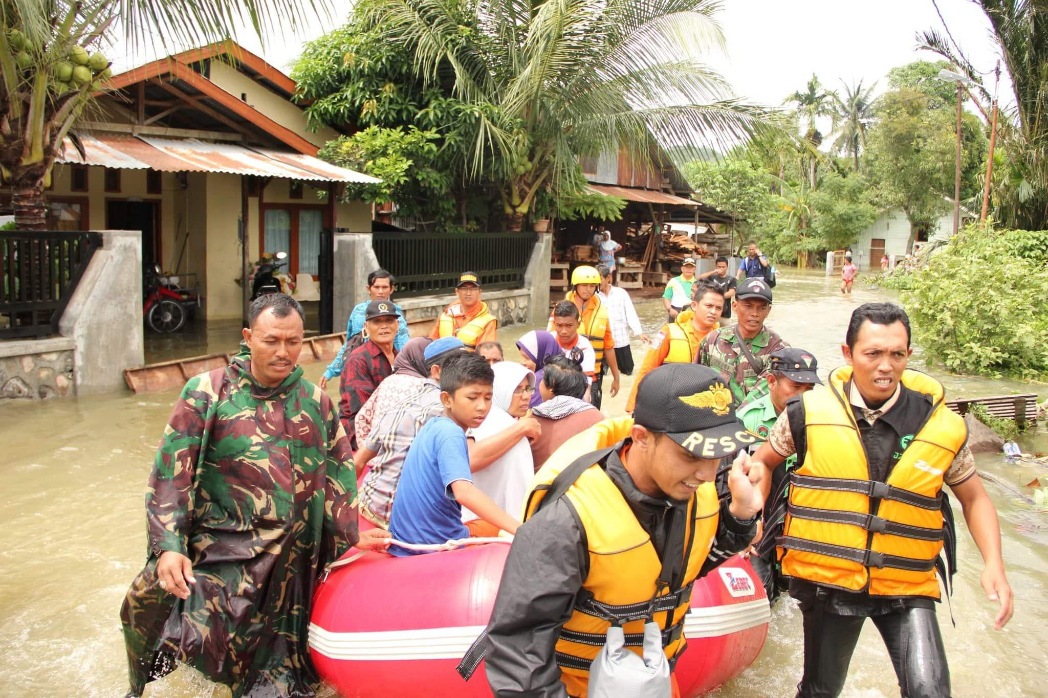 Kodam IM Tanggab Bencana Banjir