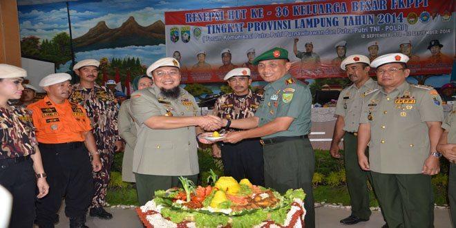 Danrem 043/Gatam : Pelihara Persatuan dan Kesatuan Keluarga Besar FKPPI.