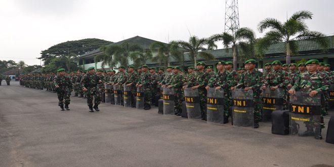 Apel Kesiapsiagaan Pengamanan Pelantikan Presiden dan Wakil Presiden RI di Wilayah Korem 043/Gatam