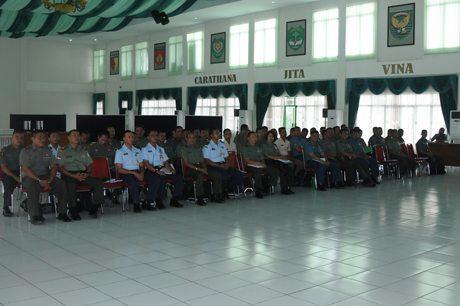 Prajurit Tanjungpura Terima Sosialisasi Permenhan No. 09 Tahun 2014