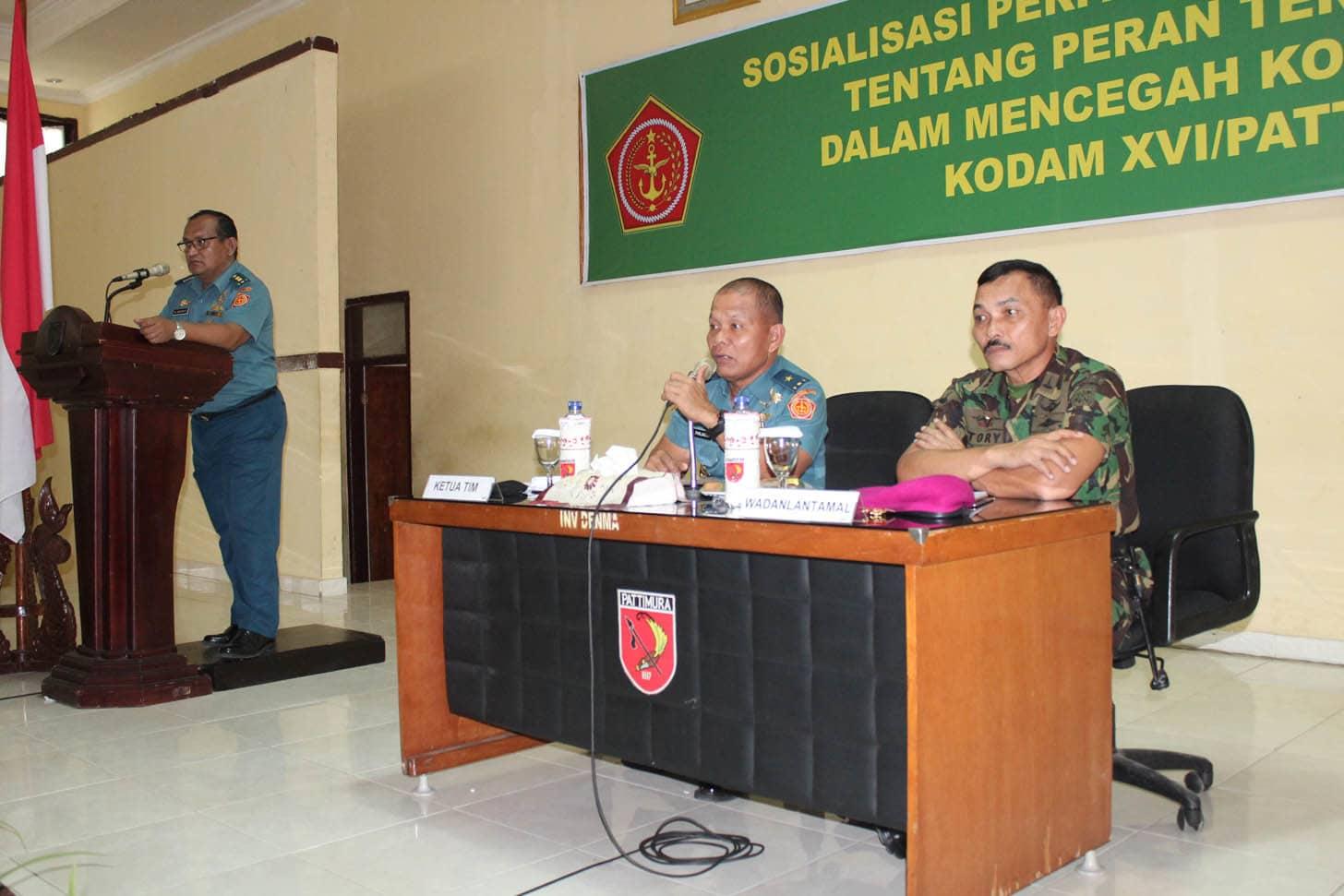 SOSIALISASI PERPANG TNI NOMOR 1 TAHUN 2014 TENTANG PERAN TERITORIAL TNI DALAM MENCEGAH KONFLIK SOSIAL