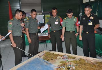 DIREKTUR PENDIDIKAN KODIKLAT TNI AD TUTUP LATIHAN POSKO I SISWA DIKLAPA II TNI AD TA.2014