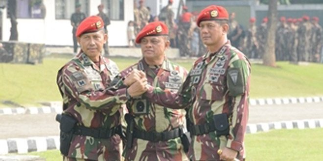 Mayjen TNI Agus Sutomo, SE., Serahkan Tongkat Komando Danjen Kopassus