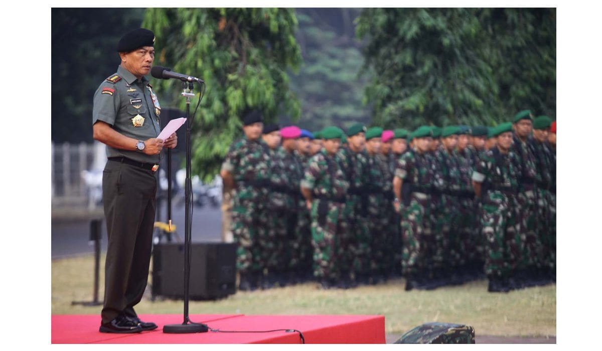 Panglima TNI Pimpin Apel Pengamanan Presiden RI