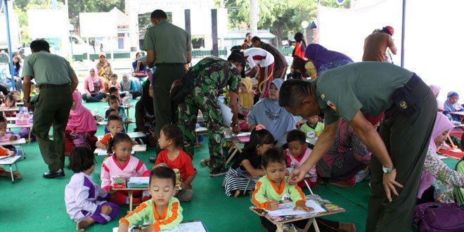 Lomba Menggambar di Kodim 0720/Rembang