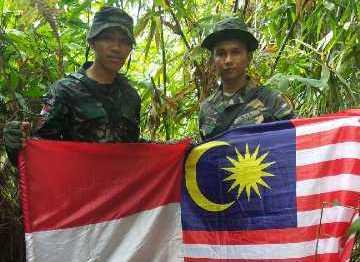 Patroli TNI bersama TDM Temukan Patok yang Hilang