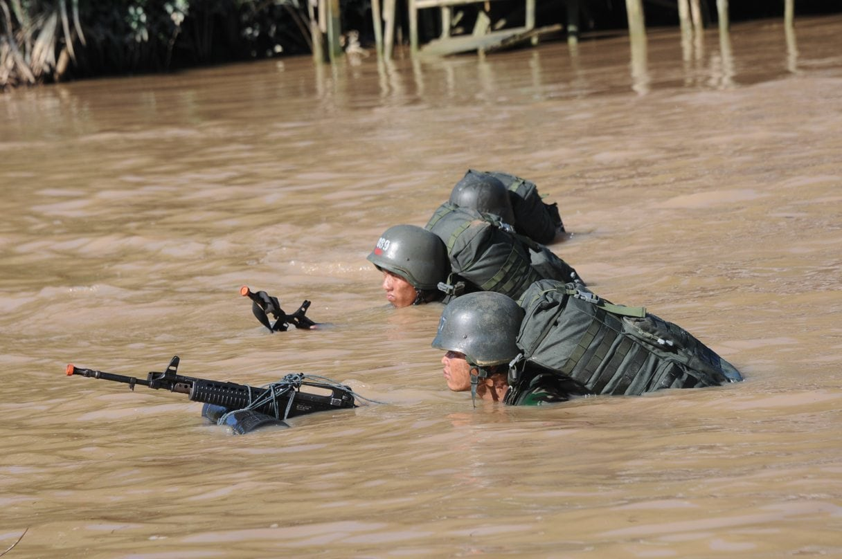 Pusdikpassus Pantau Latpatkam Prajurit Yonif 641/Raider