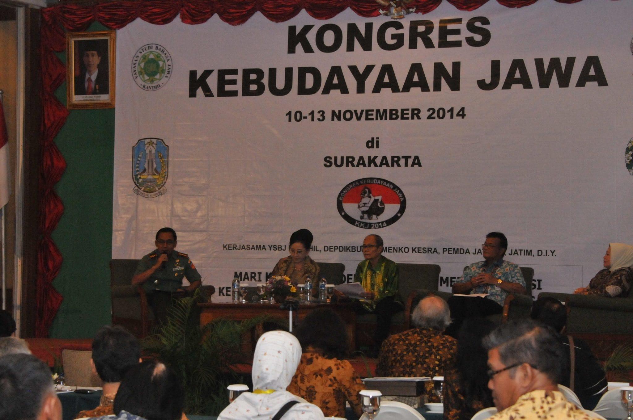 Danrem 074/Wrt sebagai pembicara pada acara Konggres Kebudayaan Jawa