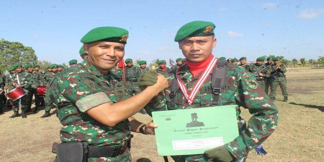 Yonif 755/Yalet Meraih Juara 2 Lomba Dantonkes Yonif dan Juara Harapan 2 Tonkes Yonif di Pusdikkes Kodiklat TNI AD