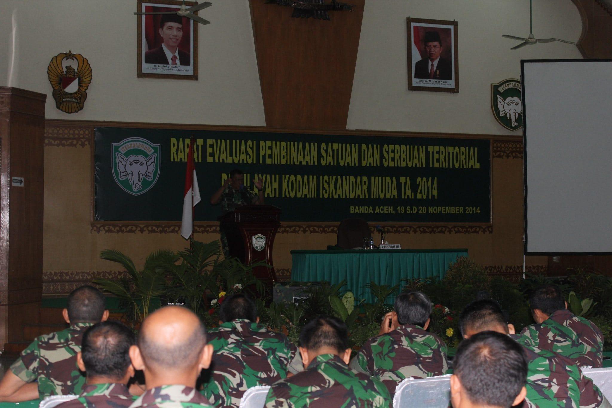 Pangdam IM Buka Rapat Evaluasi Binsat Dan Serbuan Teritorial Kodam IM