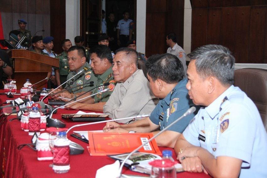 Menhan RI Berikan Pengarahan 311 Pati TNI
