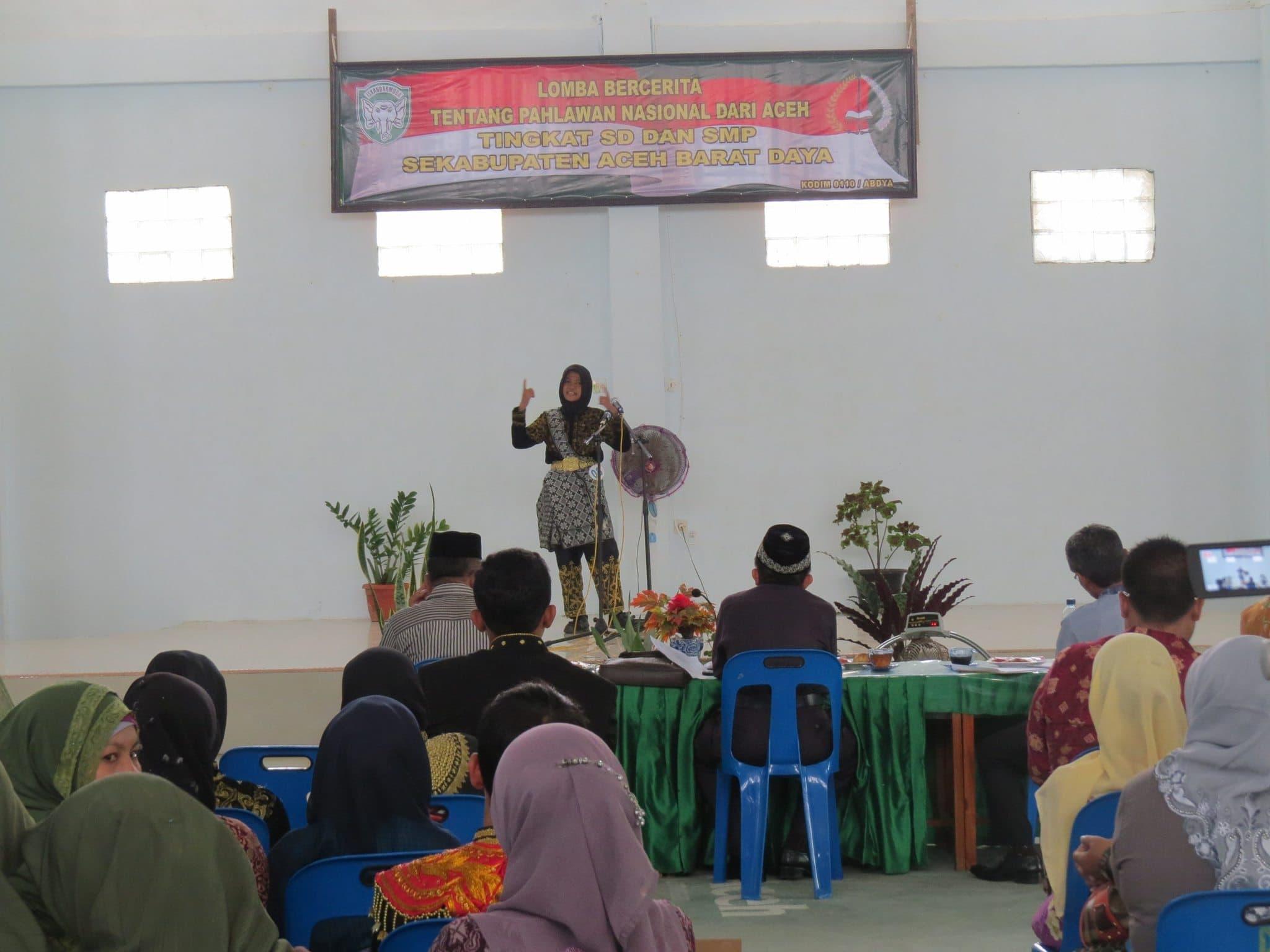 Siswa SD Dan SMP Ikuti Lomba Cerita Pahlawan Nasional Dari Aceh