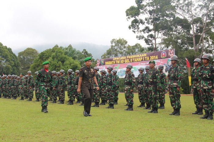 PEMBUKAAN PENDIDIKAN TAMTAMA TNI-AD GELOMBANG II TAHAP I TA. 2014