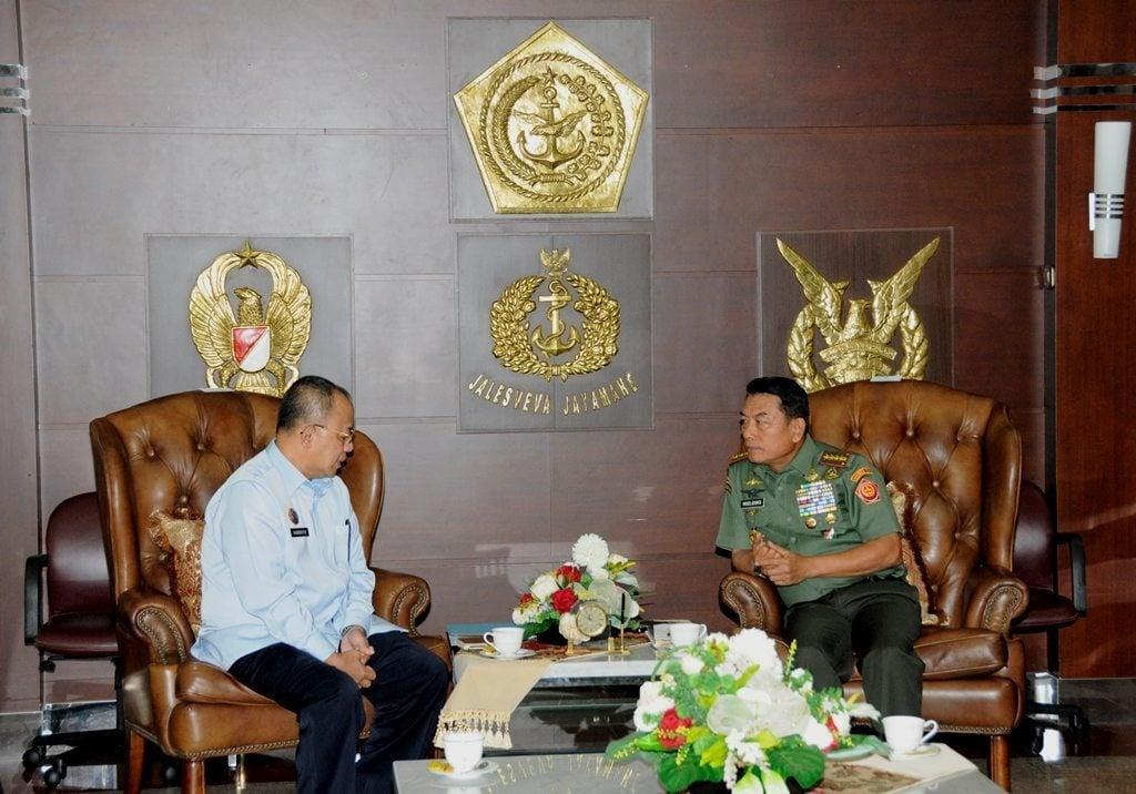 Panglima TNI terima Dirjen Pemasyarakatan