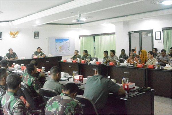 Rapat Koordinasi Penanggulangan Banjir di Wilayah Korem 051/Wkt