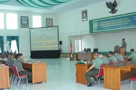 Prajurit Kodam XII/Tanjungpura Ikuti Sosialisasi Bujukmin Logistik Pengadaan Barang dan Jasa