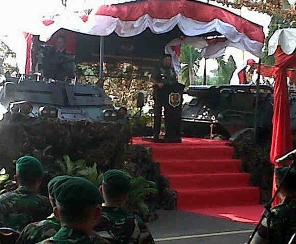 Pangdam Jaya Masuki Yonif Mekanis 201/JY, 202/TM dan Yonarmed-7