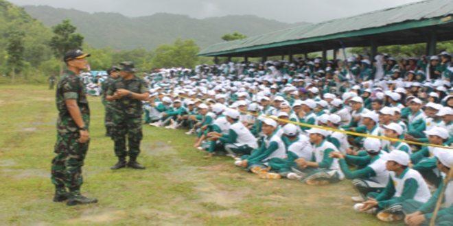 Batalyon Infanteri 112/R melaksanakan pelatihan Bela Negara kepada 1019 Mahasiswa Unsyiah Banda Aceh