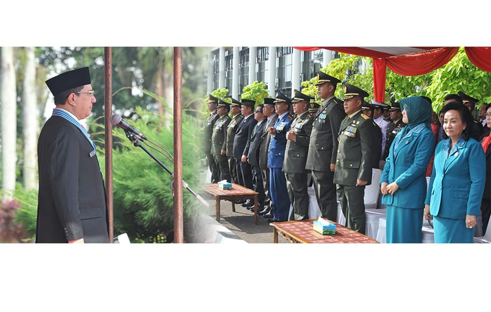 Kasdam XII/Tanjungpura Hadiri Upacara hari Pahlawan di Gubernuran