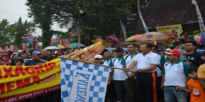 Danrem 102/Panju Panjung Hadiri Jalan Sehat Bersama Kalteng Post