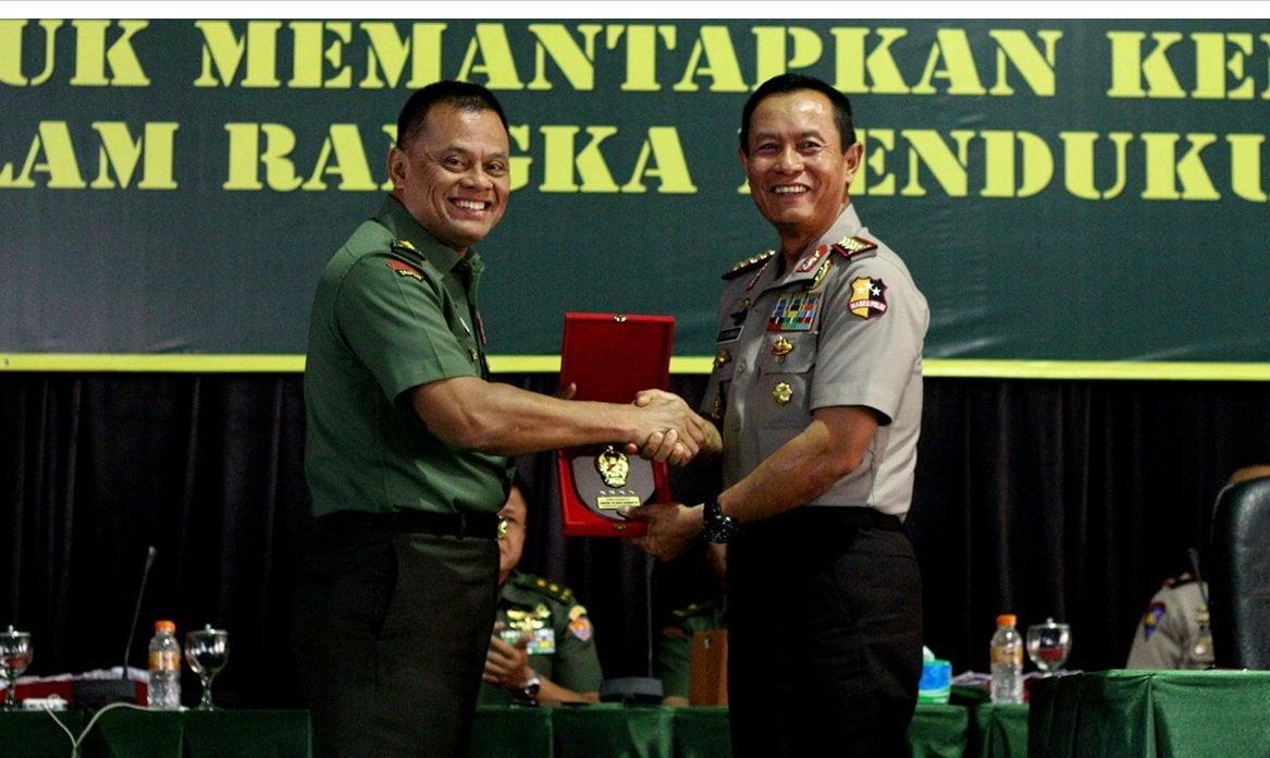 Kapolri : Perkuat Sinergitas TNI Polri Dalam Memecahkan Persoalan Bangsa