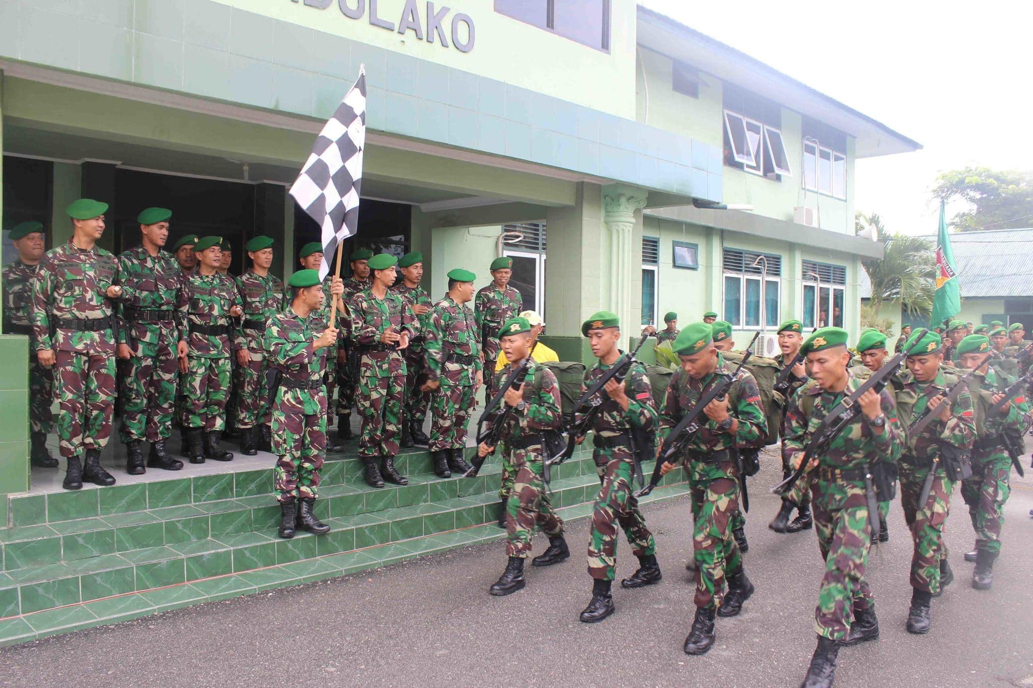 Pelepasan Peleton Beranting Yudha wastu pramuka Jaya Korem 132/Tdl