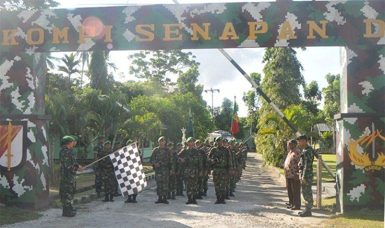 Korem 172/PWY Sebagai Peleton Pengantar Dalam Rangka Memperingati Hari Infanteri Th 2014